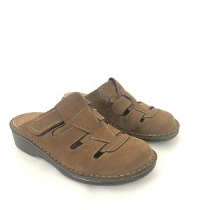 Finn Comfort Size 37 US 6-6.5 Brown Mules